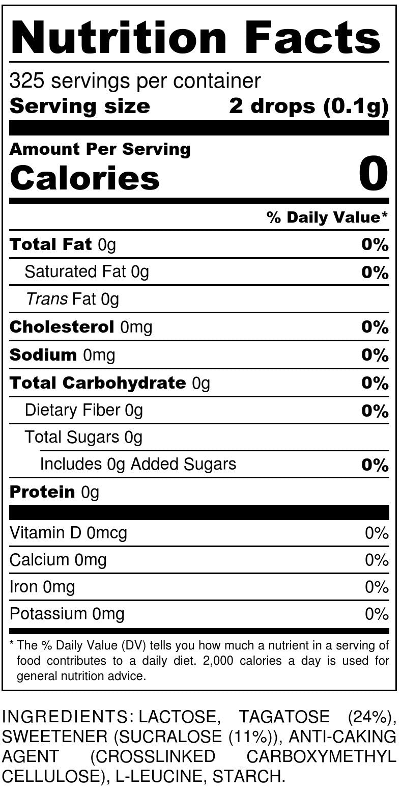 Tagatesse Table Dispenser Nutrition Facts