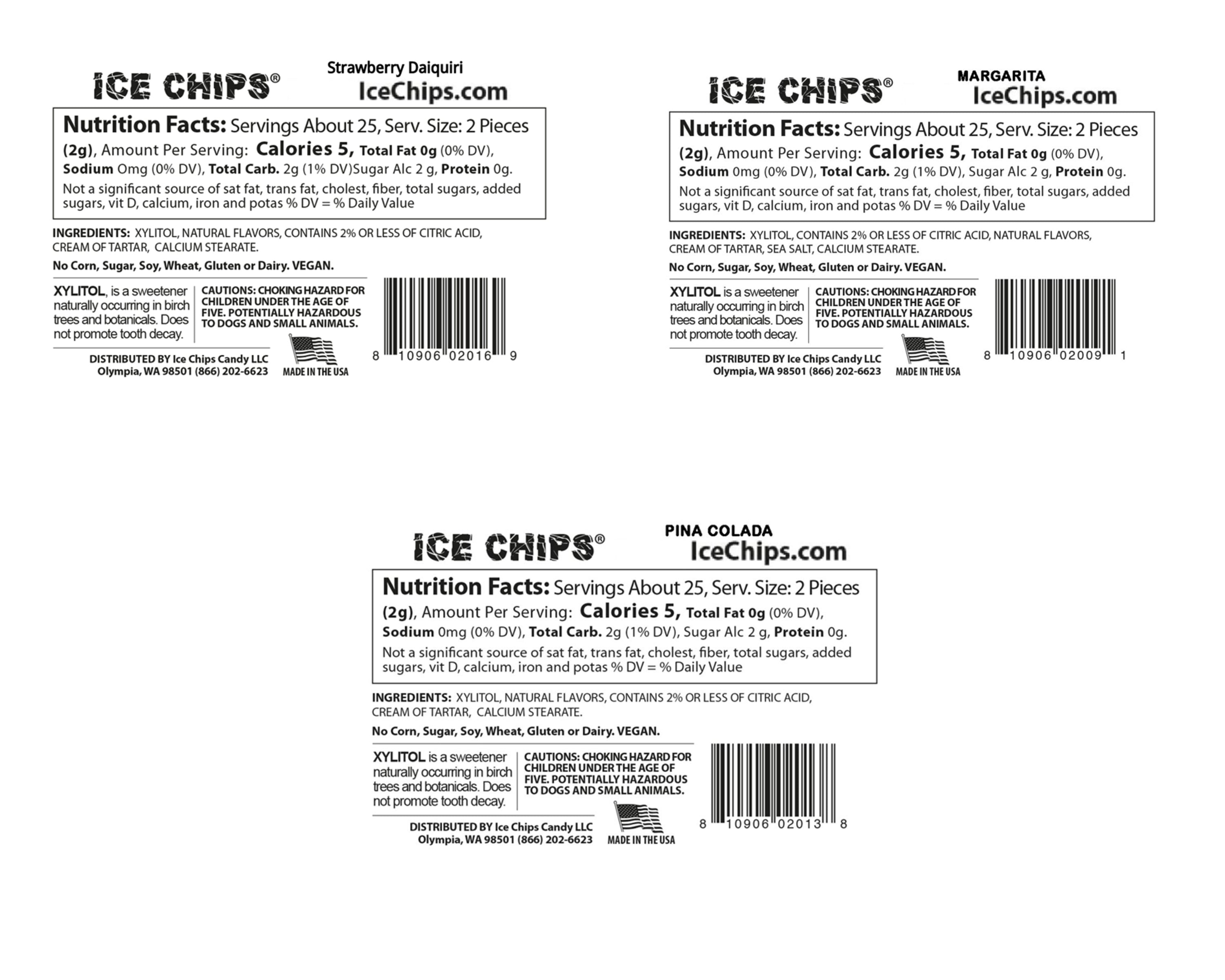 Ice Chips Party Pack Nutrition Facts
