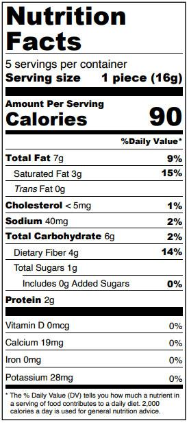 Sugar Free White Chocolate Peanut Butter Ghost Truffles Nutrition Facts