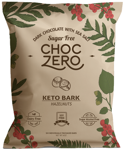 Keto Bark Dark Hazelnut
