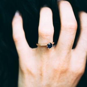 Iris Engagement Ring With Sapphire Gold Ring