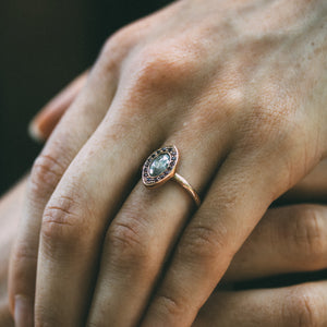Corona With Salt & Pepper Diamond Engagement Ring