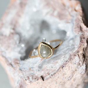 Unicus with Rose Cut Diamond Gold Ring