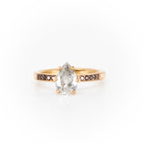 Iris With Pear Salt & Pepper diamond Engagement Ring