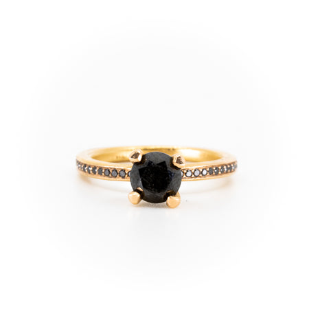 Empress Black Diamond Engagement Ring