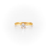 Stello With Princess Diamond Gold Ring