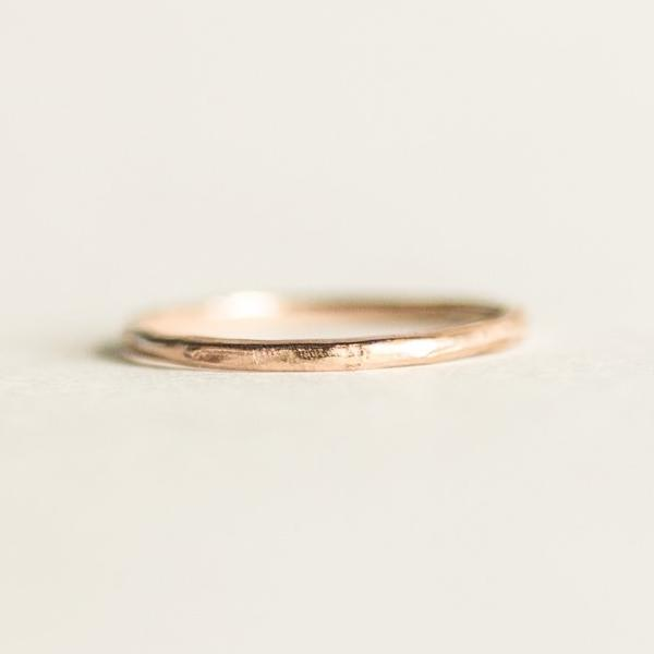 Classic Round Light Gold Ring