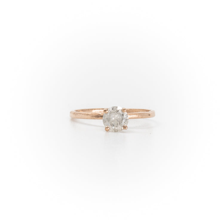 Stello With Salt & Pepper Diamond Rose Gold Ring