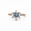 Iris With Round Aquamarine Engagement Ring