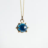Boudica Rosecut  Blue Tourmaline Necklace