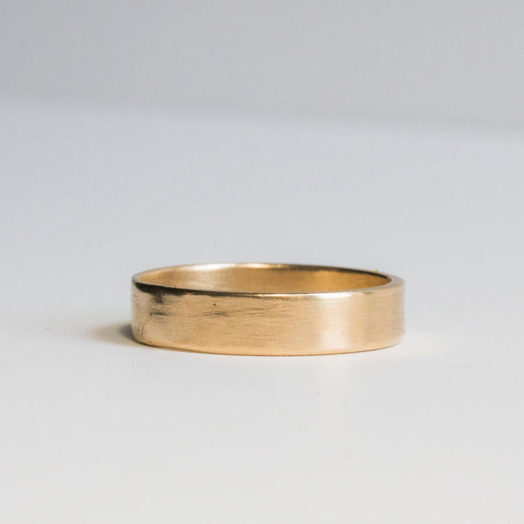 Simplex Thick Gold Band