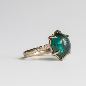 Boudica With Green Blue Tourmaline RIng