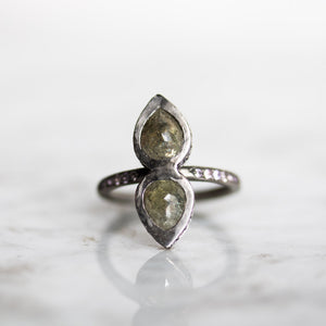 Juno With Grey Diamonds Engagement Ring