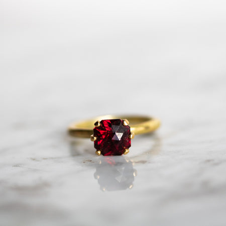 IRIS WITH RHODOLITE GARNET Ring