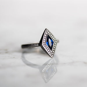 Corona WIth Sapphire Engagement Ring