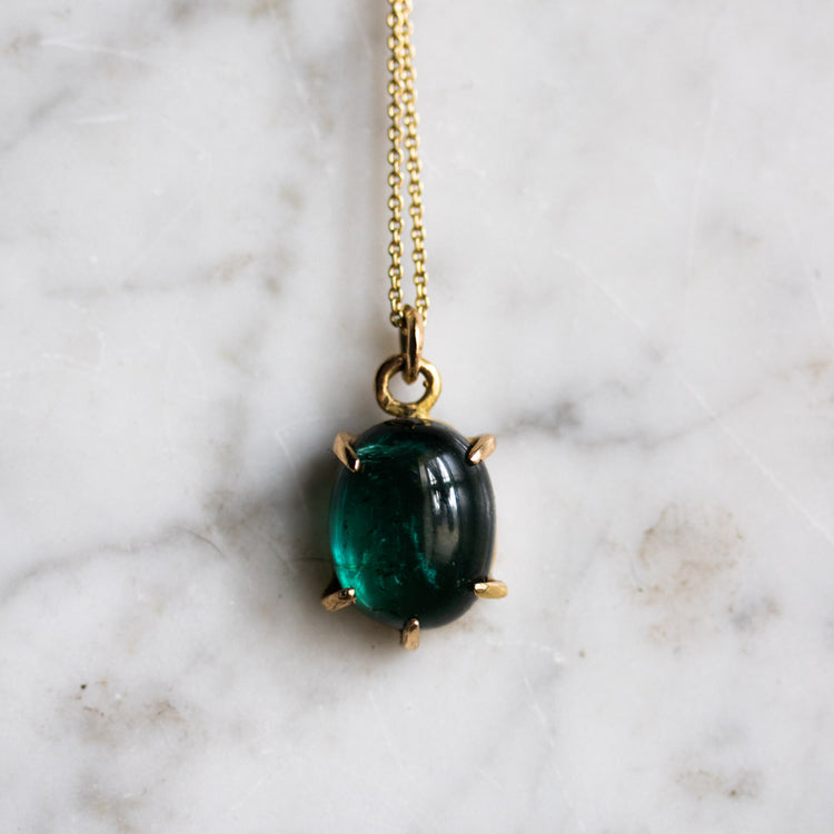 Boudica Peacock Tourmaline Necklace