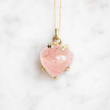 Boudica Pear Shape Morganite Necklace