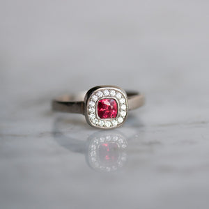 Corona With Pink Spinel Ring