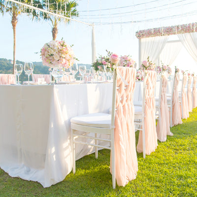 How to Weave Chiffon Chair Sashes on Chiavari Chairs