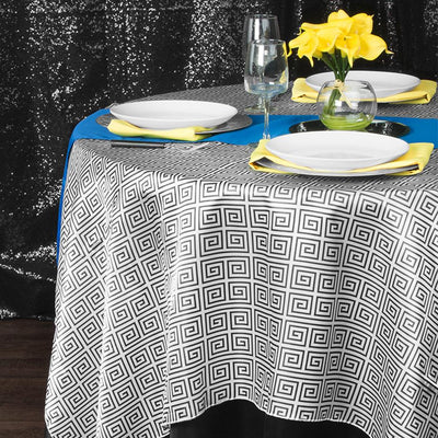 Black Table Linens with a Modern Geometric Twist!