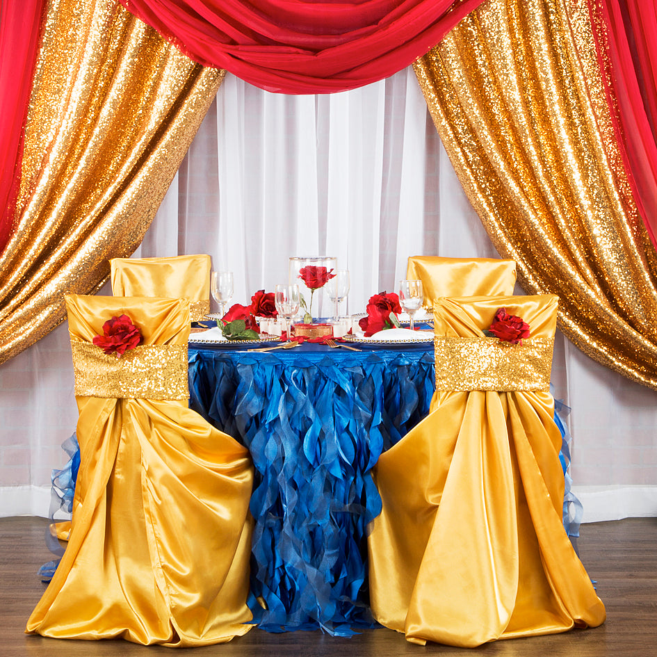 Create A Glam Beauty and the Beast Inspired Event– CV Linens