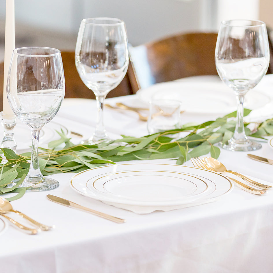 Dress Up White Banquet Tablecloths for Under $12