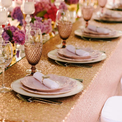 How to Incorporate Gold Sequin Fabric into Your Wedding Decor