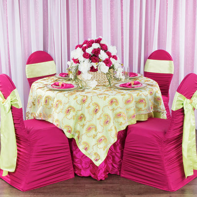 Kid's Party Decor: Fuchsia and Apple Green