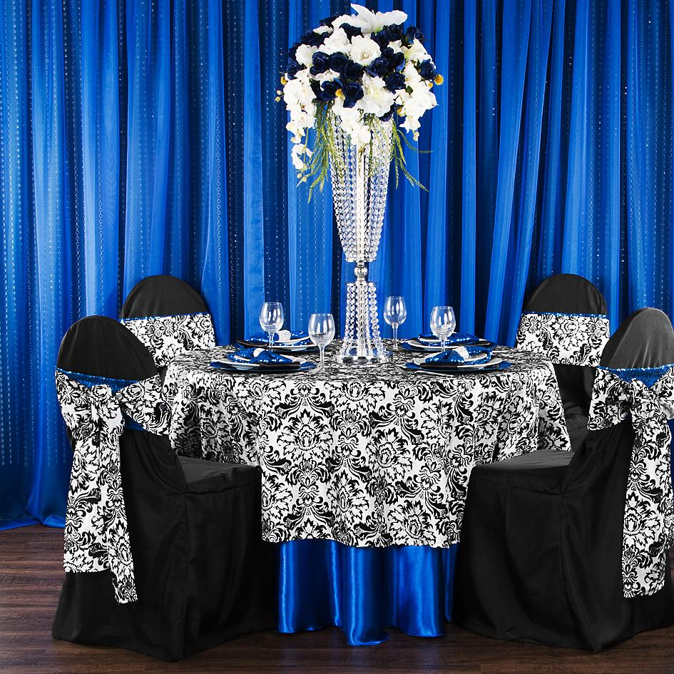 Get the Modern Look of Damask with a Pop of Color