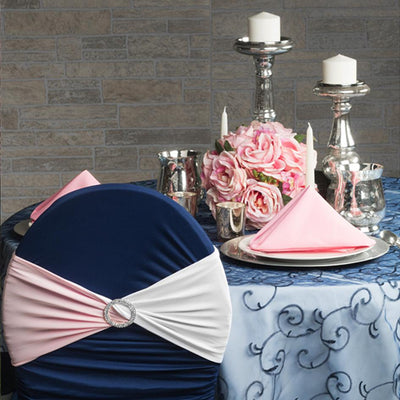 Navy Blue & Pink Textured Tablescape