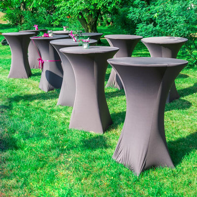 New:  Chairback Covers, Oversize Chair Flowers, & Spandex Cocktail Table Covers