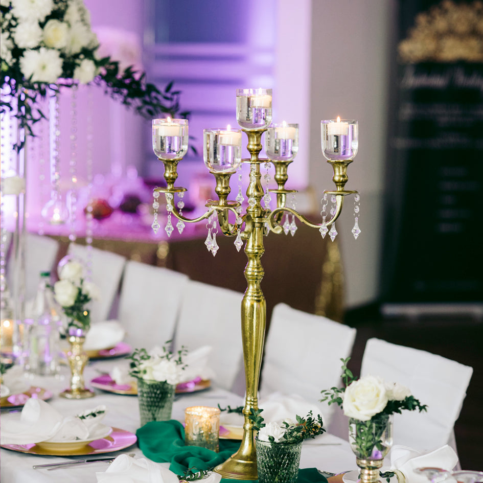 New Crystal Wedding Centerpieces in Stock!