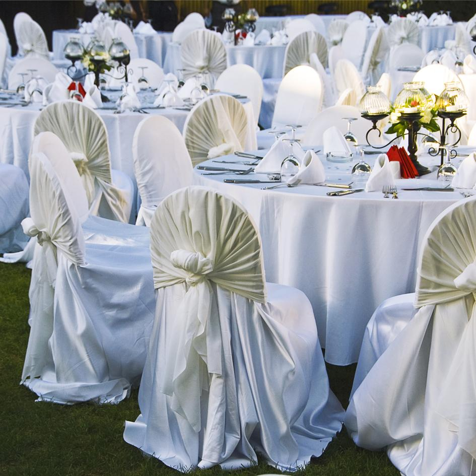 New: Organza Overlays & Universal Chair Covers