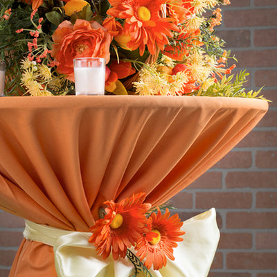Orange Polyester Cocktail Table