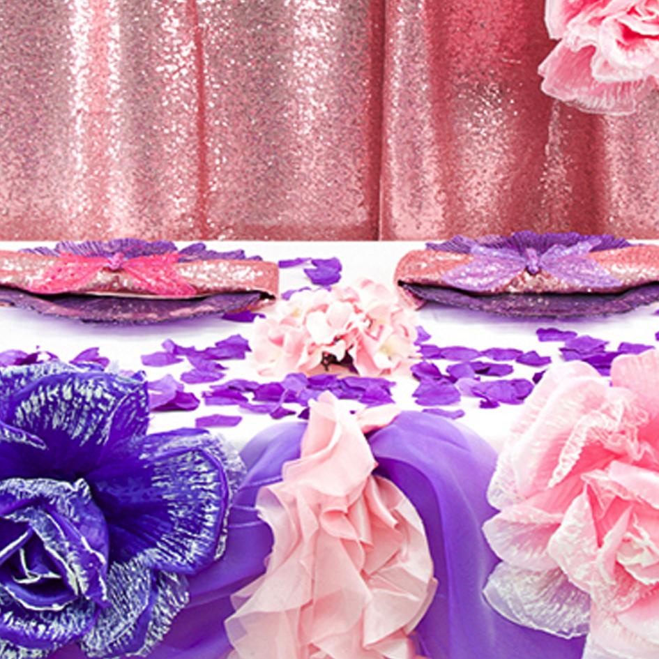 Pink and Purple Enchanted Garden Party