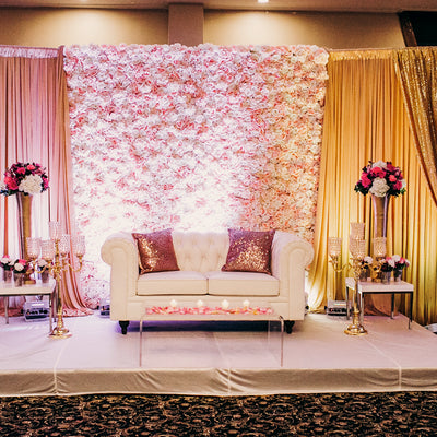 How to Set Up a Portable Flower Wall Backdrop