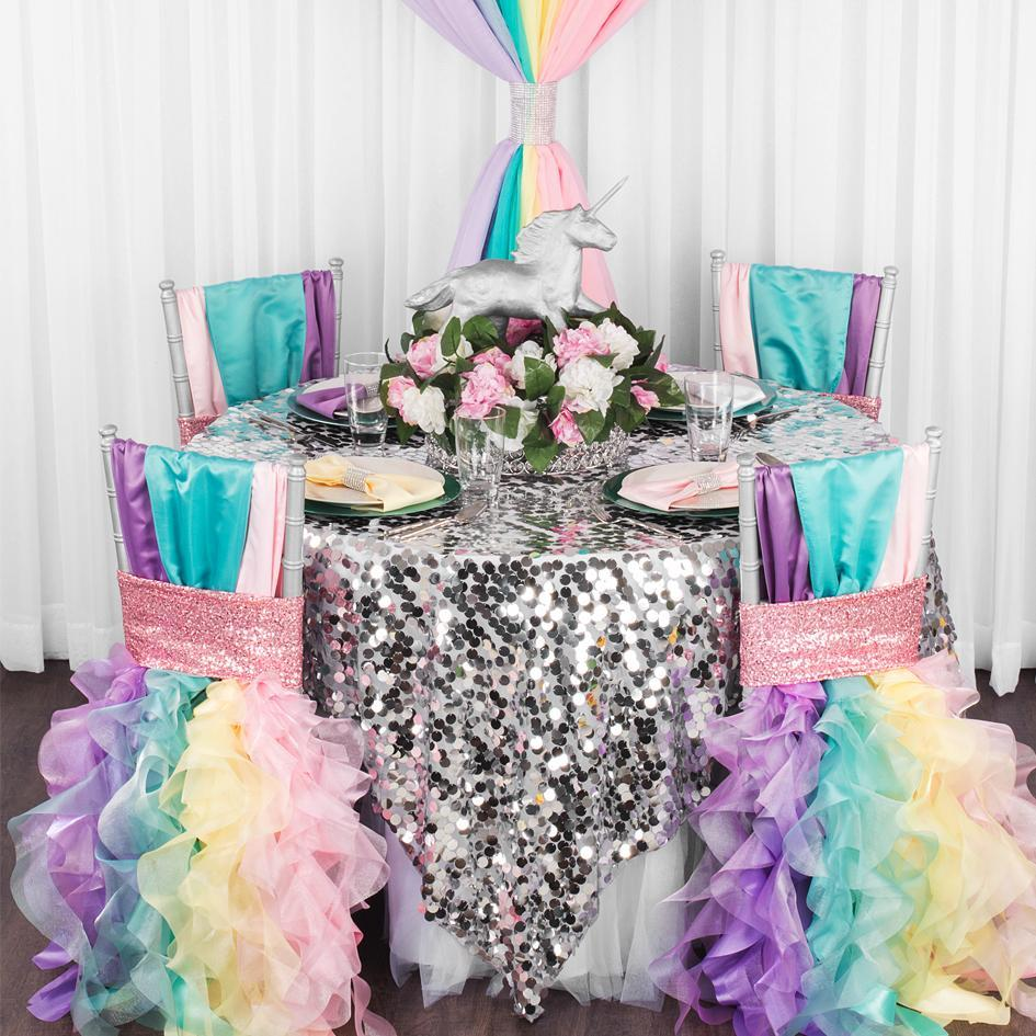 These 3 Linens Will Make Your Enchanted Unicorn Party Look Amazing