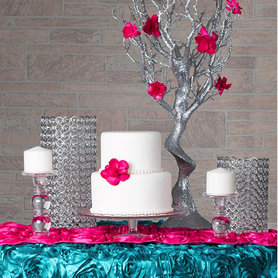 Trendy Cake Table ft. Rosette Satin