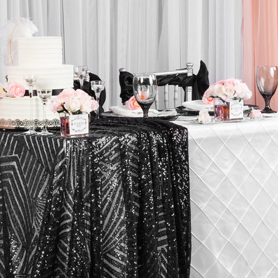 Why Brides Love Geometric Glitz Sequin Linens