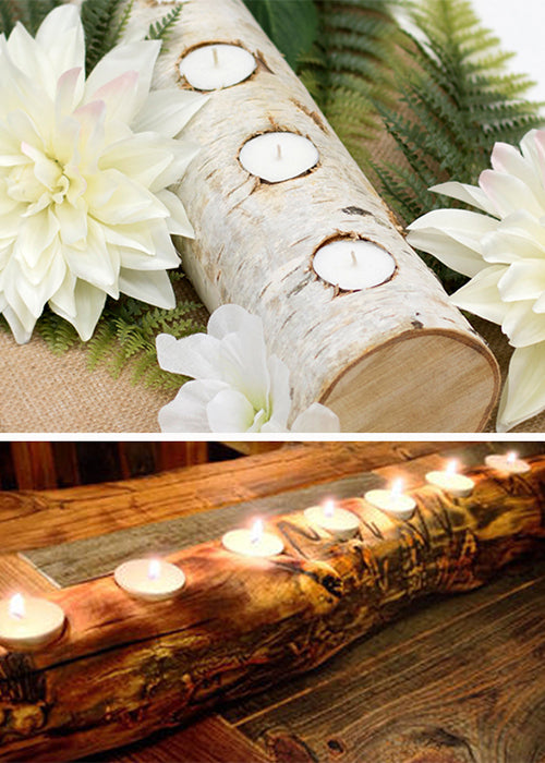 10 Creative Ways to Style Wood Slabs in Your Wedding Decor Birch Log