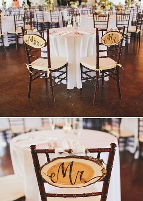 10 Creative Ways to Style Wood Slabs in Your Wedding Decor Mr Mrs Signs