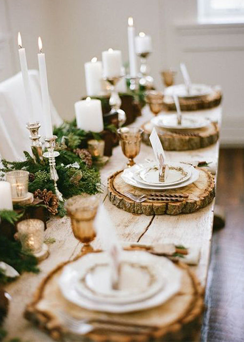 10 Creative Ways to Style Wood Slabs in Your Wedding Decor Rustic Placemats