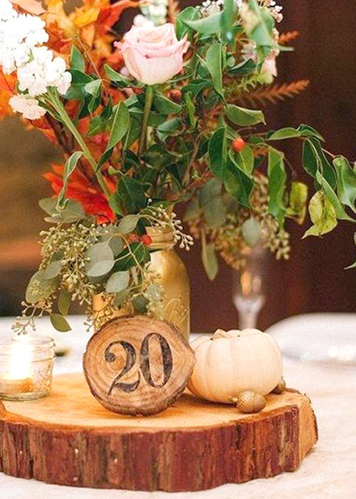 10 Creative Ways to Style Wood Slabs in Your Wedding Decor Table Numbers