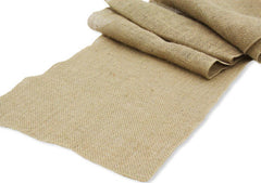 Burlap Table Runner 13″x108″ – Natural Tan