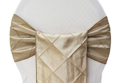 Pintuck Chair Sash – Champagne