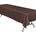 Chocolate Polyester Tablecloth