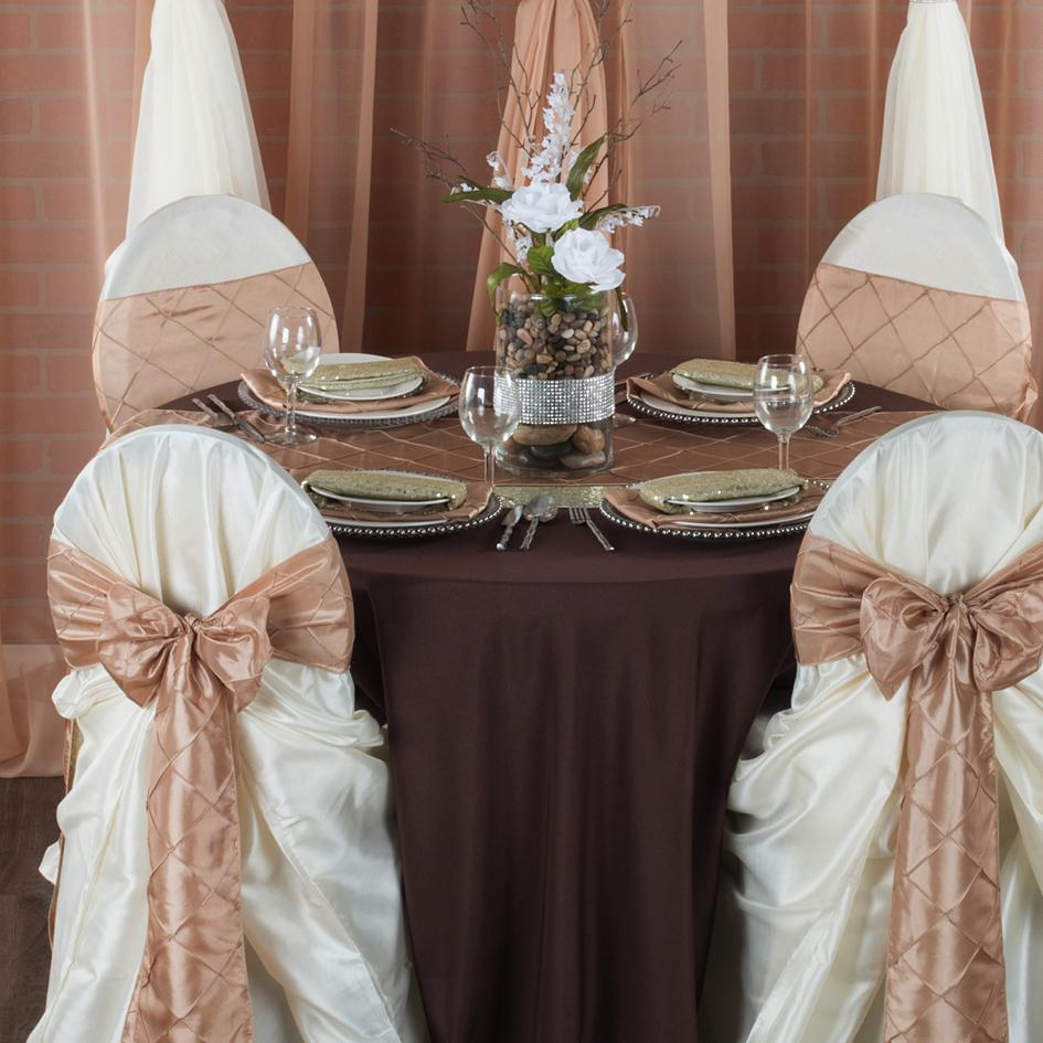 chocolate brown wedding with champagne and ivory accents