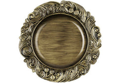 Aristocrat Charger Plate 14″ Round – Brush Brown