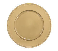"Beaded Round 13"" Charger Plates - Gold"