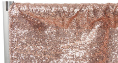 Glitz Sequin Drape/Backdrop panel – Blush/Rose Gold
